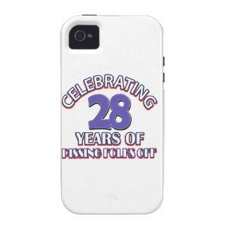 diseños del cumpleaños de 28 años iPhone 4/4S carcasa