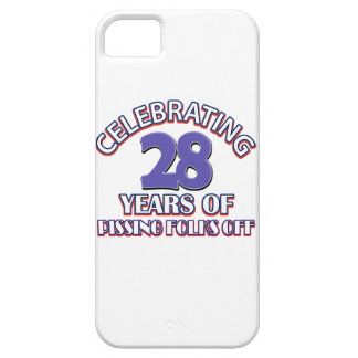 diseños del cumpleaños de 28 años iPhone 5 carcasas