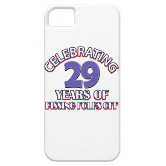 diseños del cumpleaños de 29 años iPhone 5 protectores