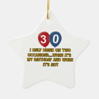 diseños del cumpleaños de 30 años ornamento de navidad
