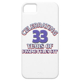 diseños del cumpleaños de 33 años iPhone 5 Case-Mate fundas