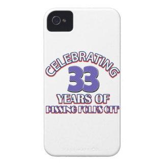 diseños del cumpleaños de 33 años iPhone 4 cárcasa