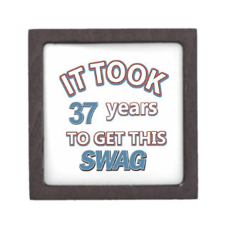 diseños del cumpleaños de 37 años cajas de regalo de calidad