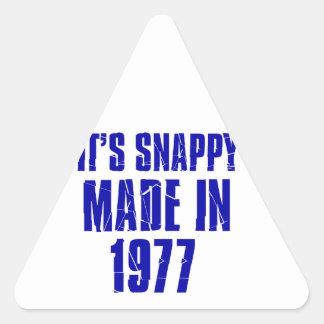 diseños del cumpleaños de 37 años pegatina triangular