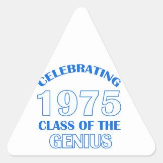 diseños del cumpleaños de 39 años calcomanías triangulos personalizadas