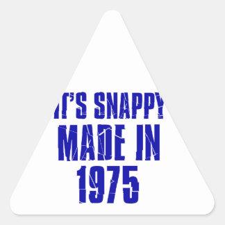 diseños del cumpleaños de 39 años pegatina triangular
