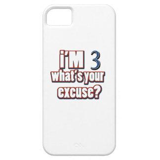 diseños del cumpleaños de 3 años iPhone 5 carcasas