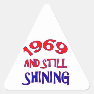 diseños del cumpleaños de 45 años pegatina triangular