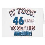 diseños del cumpleaños de 46 años tarjetas
