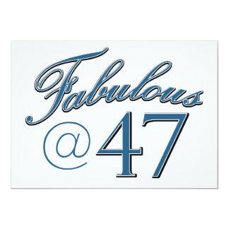 """diseños del cumpleaños de 47 años invitación 5"""" x 7"""""""