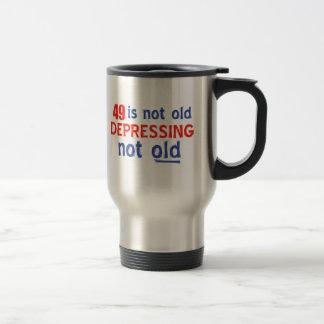 diseños del cumpleaños de 49 años tazas de café