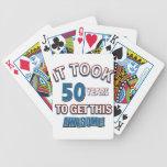 diseños del cumpleaños de 50 años baraja