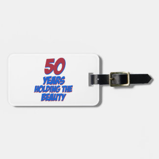 diseños del cumpleaños de 50 años etiqueta de maleta