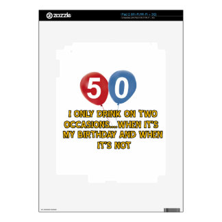 diseños del cumpleaños de 50 años iPad 2 calcomanía