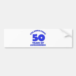 DISEÑOS DEL CUMPLEAÑOS DE 50 AÑOS PEGATINA PARA AUTO