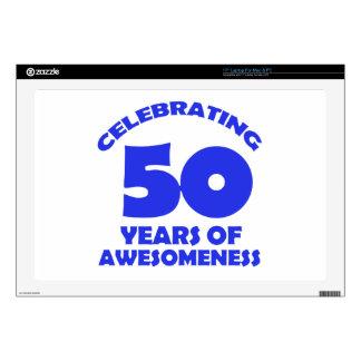 diseños del cumpleaños de 50 años portátil calcomanía