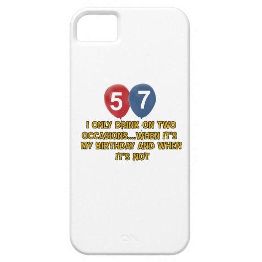 diseños del cumpleaños de 54 años iPhone 5 fundas
