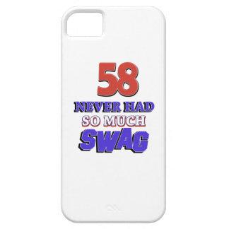 diseños del cumpleaños de 58 años iPhone 5 cárcasas