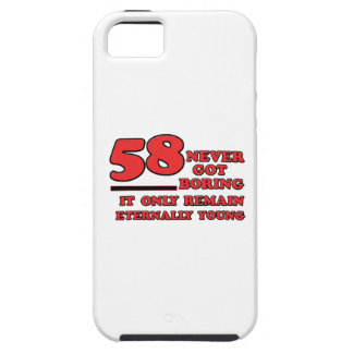 diseños del cumpleaños de 58 años iPhone 5 protectores