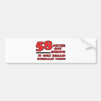 diseños del cumpleaños de 58 años pegatina para auto