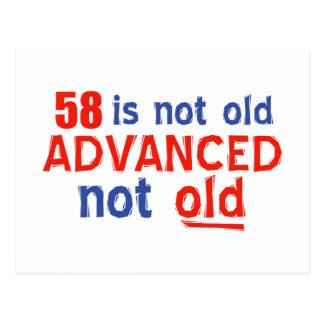 diseños del cumpleaños de 58 años tarjeta postal