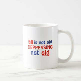 diseños del cumpleaños de 58 años taza