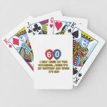 diseños del cumpleaños de 60 años barajas de cartas