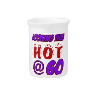 diseños del cumpleaños de 60 años jarras