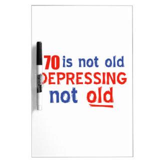 diseños del cumpleaños de 70 años pizarras