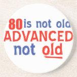 diseños del cumpleaños de 80 años posavasos diseño