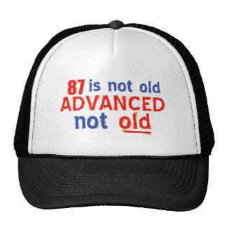 diseños del cumpleaños de 87 años gorras de camionero