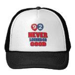 diseños del cumpleaños de 92 años gorras de camionero