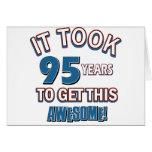diseños del cumpleaños de 95 años tarjeta
