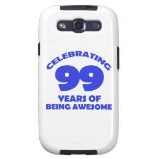 diseños del cumpleaños de 99 años galaxy s3 fundas