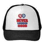 diseños del cumpleaños de 99 años gorras de camionero