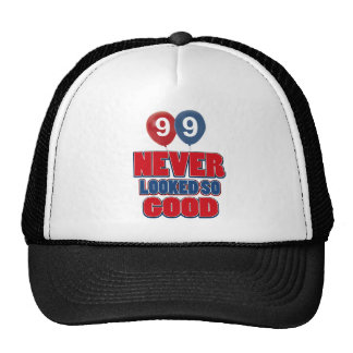 diseños del cumpleaños de 99 años gorro de camionero