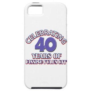 diseños del cumpleaños de la persona de 40 años iPhone 5 Case-Mate cobertura