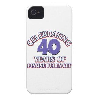 diseños del cumpleaños de la persona de 40 años iPhone 4 protectores