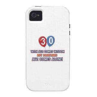 diseños del cumpleaños de la sabiduría de 30 años iPhone 4/4S carcasa