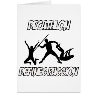 Diseños del DECATHLON Tarjeta De Felicitación