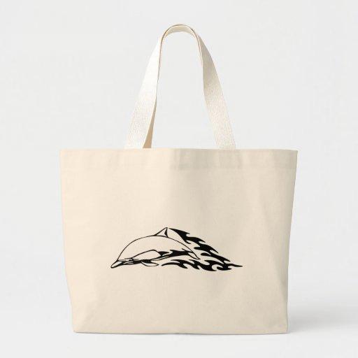 Diseños del delfín bolsas lienzo