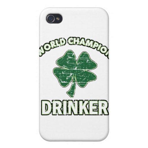 Diseños del día de St Patrick fresco iPhone 4/4S Carcasa
