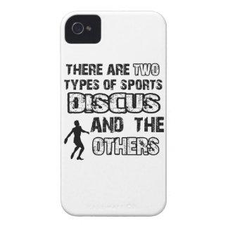 Diseños del disco para los amantes del deporte iPhone 4 cobertura