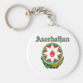 Diseños del escudo de armas de Azerbaijan del Grun Llavero Redondo Tipo Pin