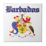 Diseños del escudo de armas de Barbados del Grunge Azulejos