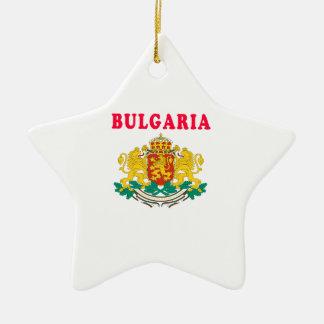 Diseños del escudo de armas de Bulgaria Adorno De Cerámica En Forma De Estrella
