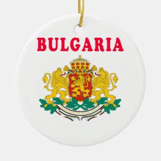 Diseños del escudo de armas de Bulgaria Adorno Redondo De Cerámica