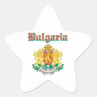 Diseños del escudo de armas de Bulgaria del Grunge Pegatina En Forma De Estrella