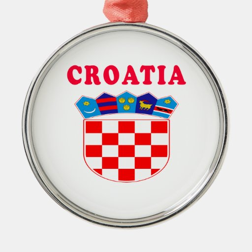 Diseños del escudo de armas de Croacia Ornamento Para Reyes Magos
