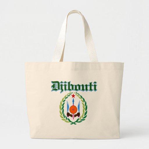 Diseños del escudo de armas de Djibouti del Grunge Bolsas